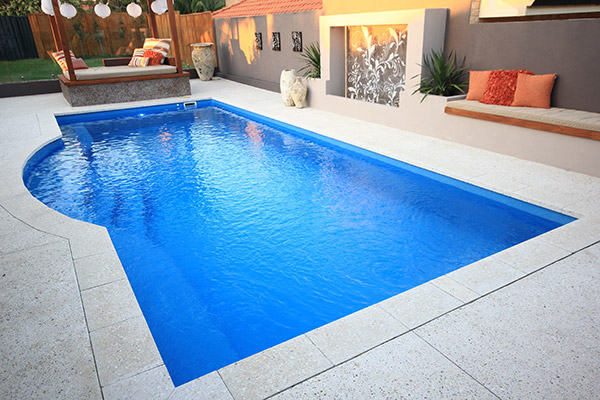 """Aquarius"" Fibreglass Pool Design, manufactured and installed in Perth by Aqua Technics"