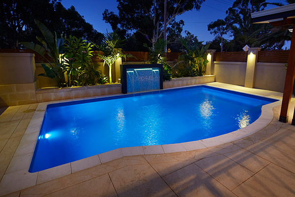 """Capricorn"" Inground Fibreglass Pool Design designed, manufactured and installed by Aqua Technics"