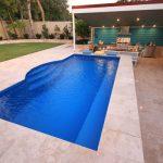 """Santorini"" Small Inground Fibreglass Swimming Pool, pictured as backyard pool"