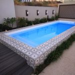 """Sentosa"" Inground Fibreglass Swimming Pool Design, pictured in backyard"