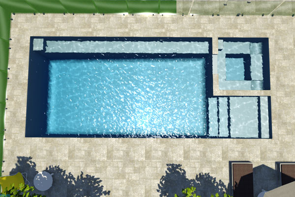 """Saint Louis"" Fibreglass Swimming Pool 